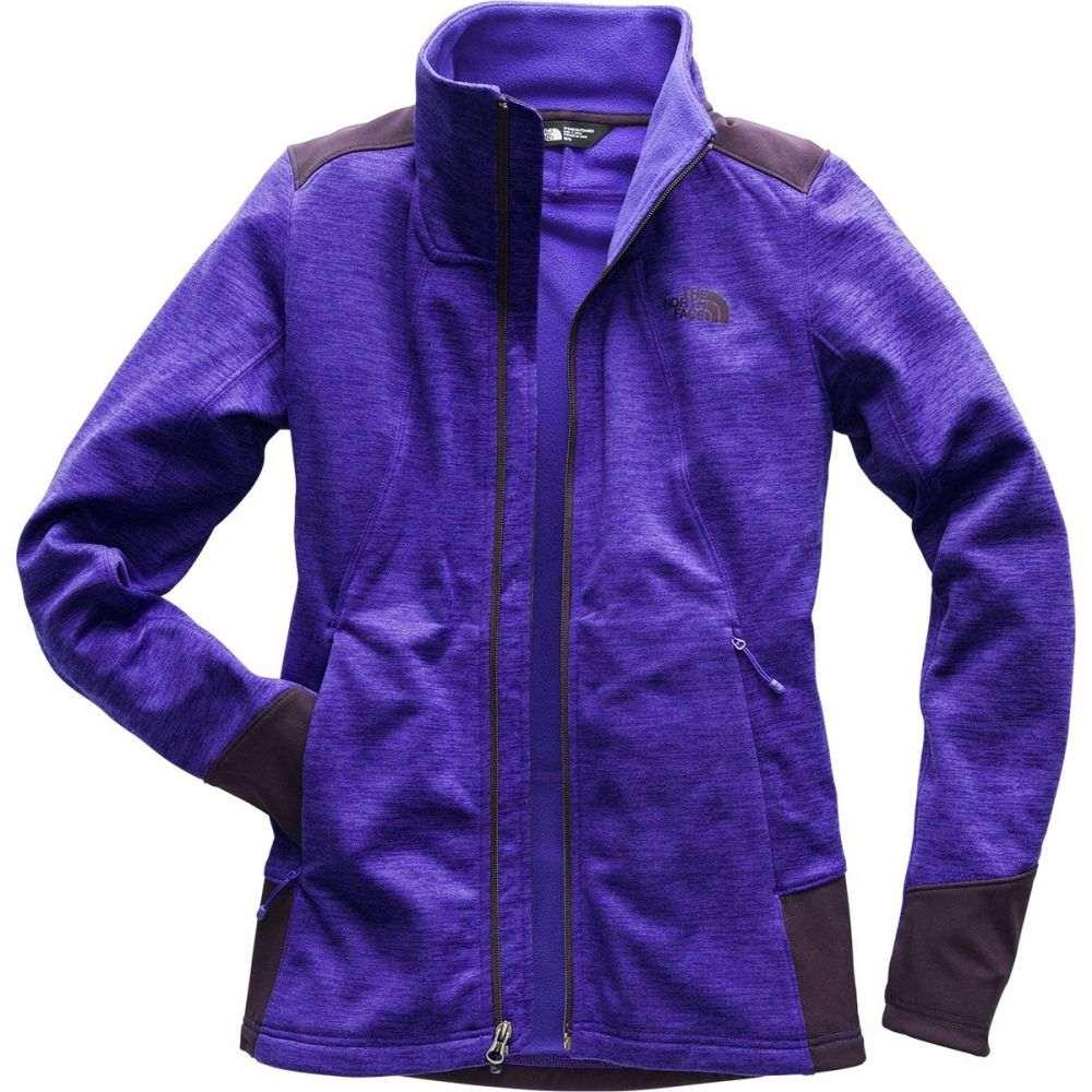 ザ ノースフェイス レディース トップス フリース【Shastina Stretch Full - Zip Jacket】Deep Blue Heather/Galaxy Purple