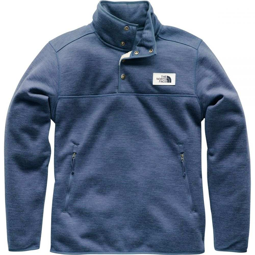 ザ ノースフェイス メンズ トップス フリース【Sherpa Patrol 1/4 - Snap Fleece Pullover Jackets】Shady Blue Heather