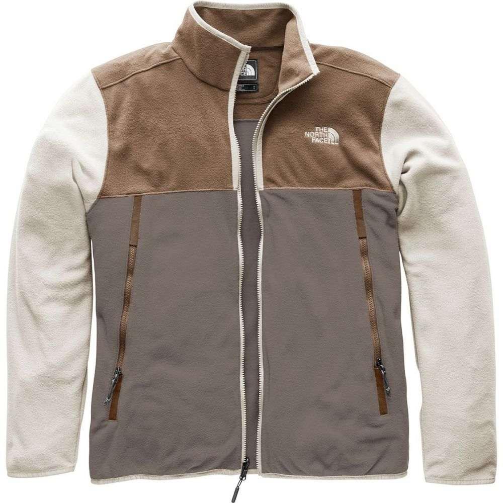 ザ ノースフェイス メンズ トップス フリース【Glacier Alpine Fleece Jackets】Falcon Brown/Cargo Khaki/Peyote Beige