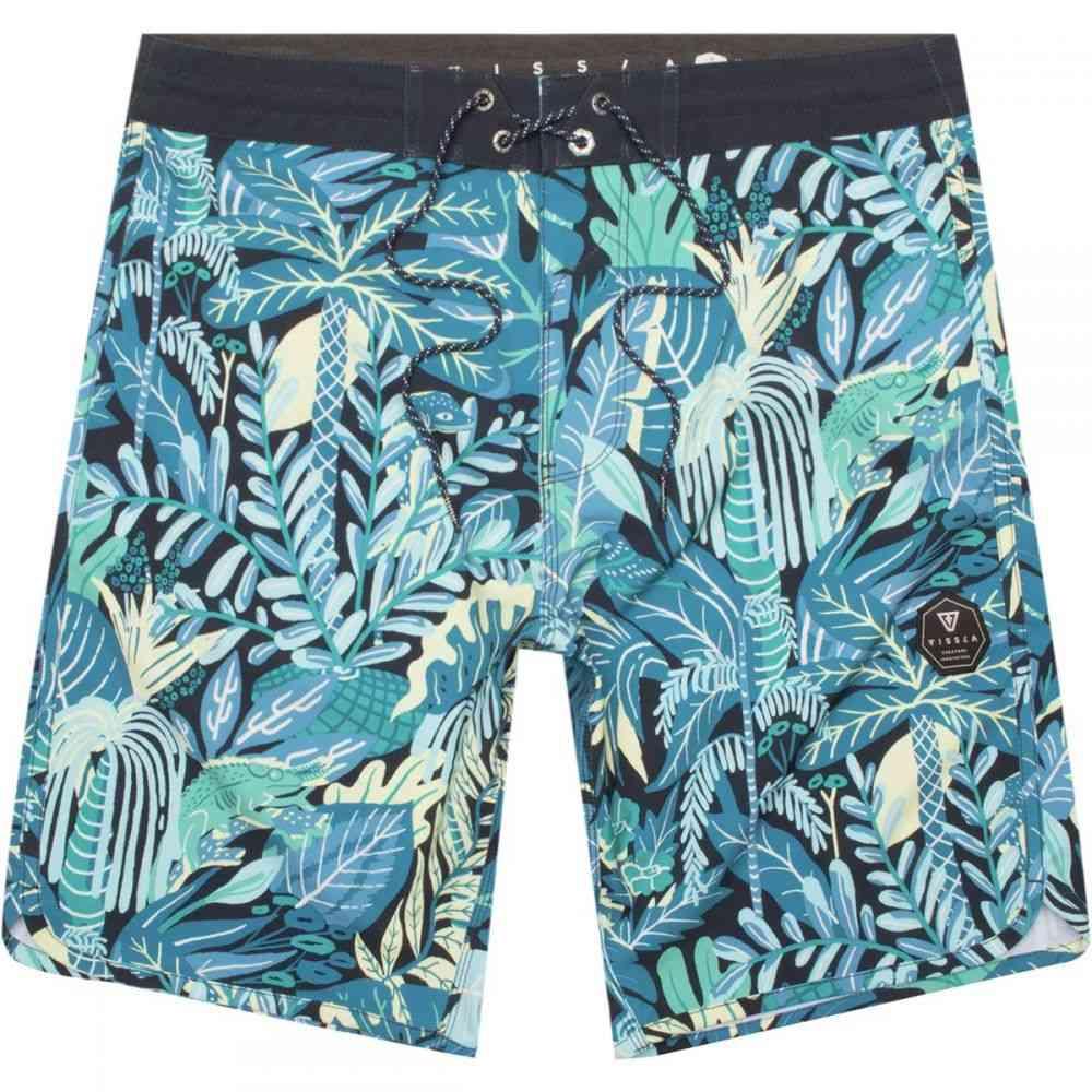 ヴィスラ メンズ 水着・ビーチウェア 海パン【Tropical Maui 20in Board Shorts】Dark Naval