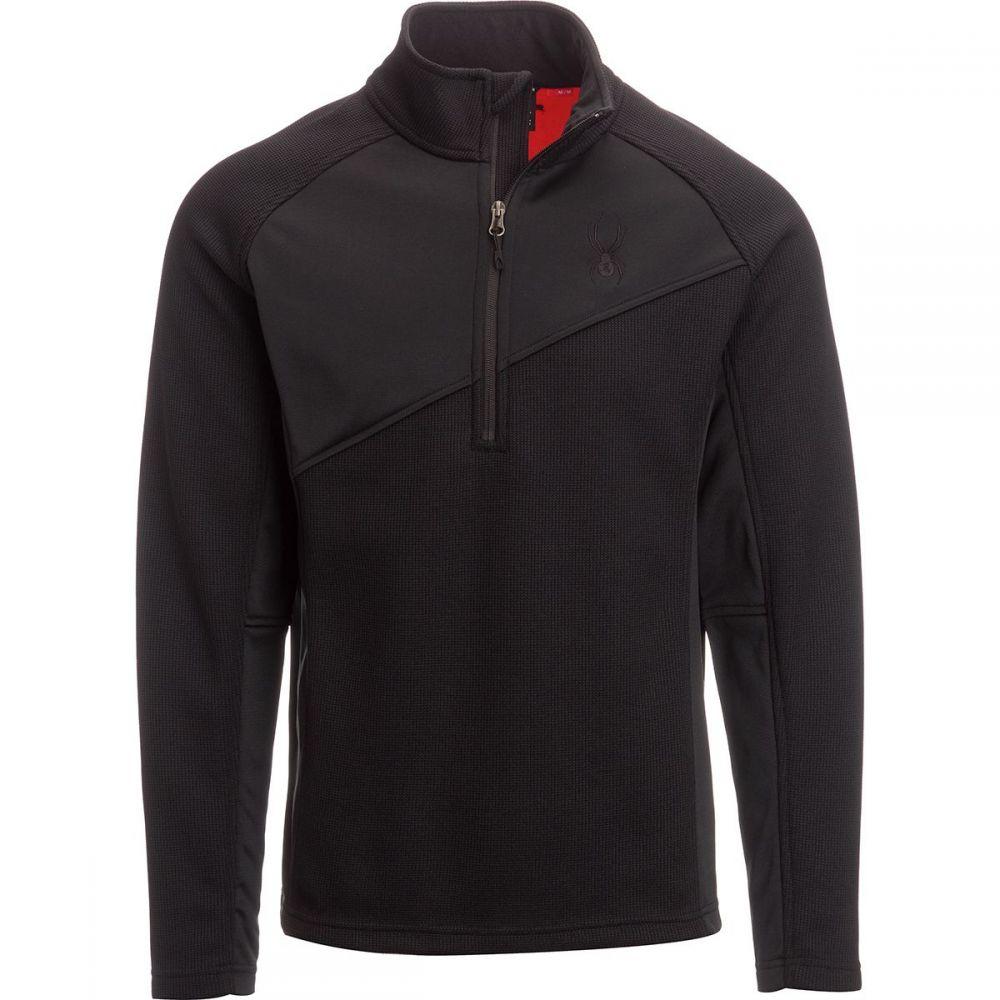 スパイダー メンズ トップス フリース【Verger Lightweight Fleece Jackets】Black/Black/Red