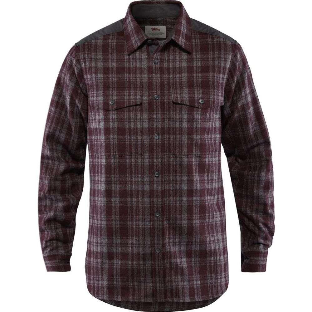 フェールラーベン Fjallraven メンズ トップス シャツ【Ovik Re - Wool Long - Sleeve Shirts】Dark Garnet/Dark Grey