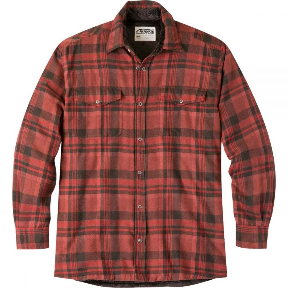 マウンテンカーキス Mountain Khakis メンズ トップス シャツ【Christopher Fleece Lined Shirts】Engine Red Plaid