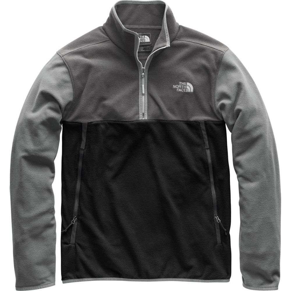 ザ ノースフェイス The North Face メンズ トップス フリース【Glacier Alpine 1/4 - Zip Fleece Pullover Jackets】Tnf Black/Asphalt Grey/Tnf Medium Grey Heather