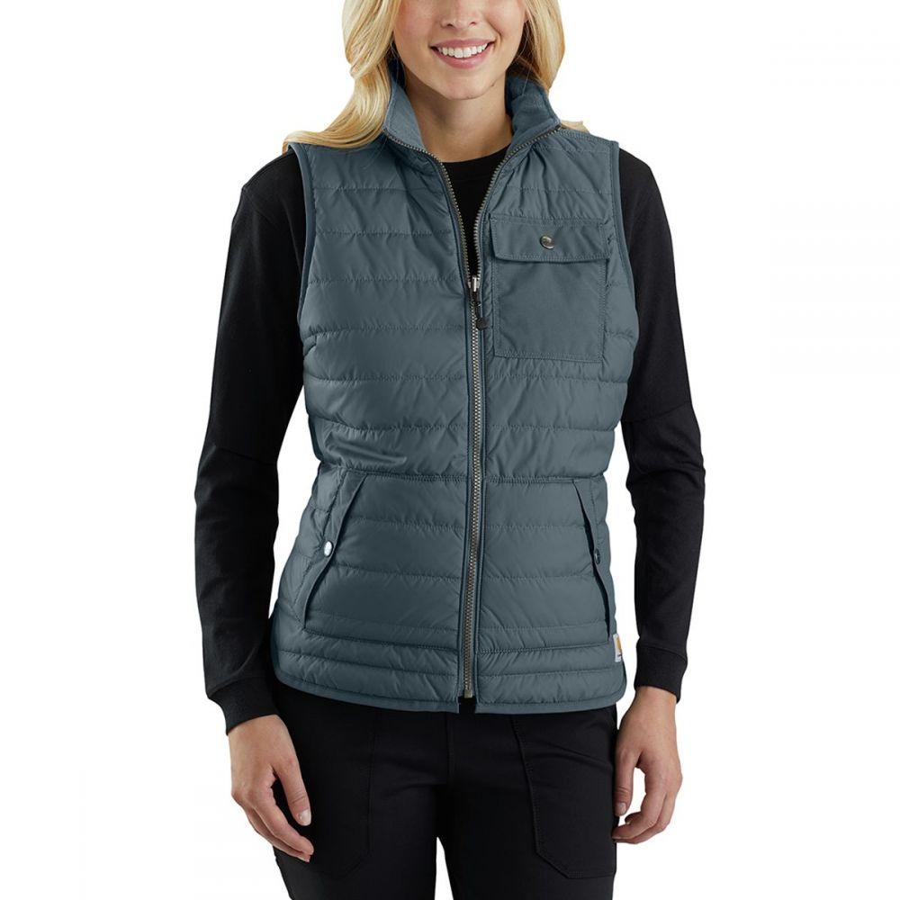 カーハート Carhartt レディース トップス ベスト・ジレ【Amoret Flannel Lined Vest】Dark Slate