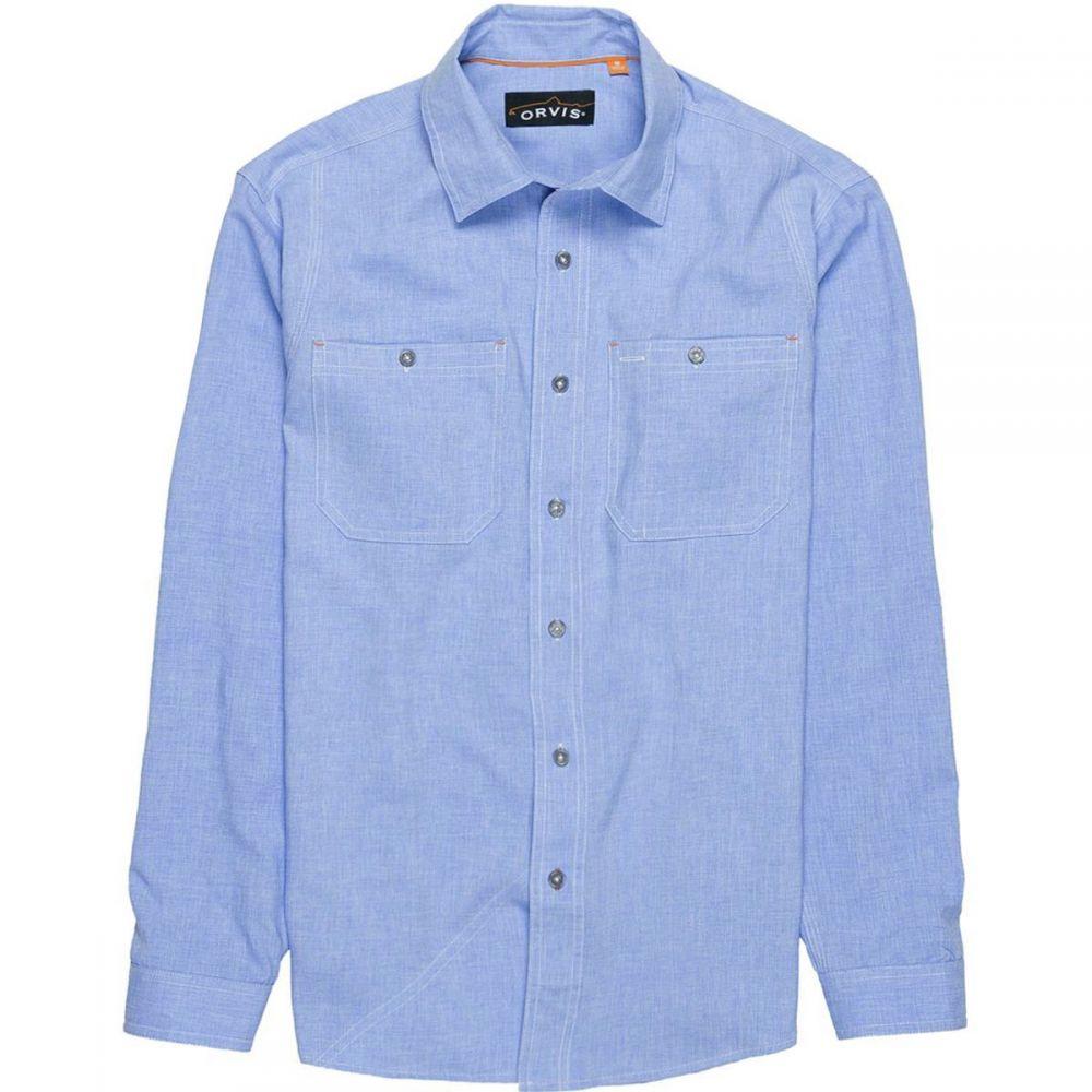 オービス Orvis メンズ 釣り・フィッシング トップス【Tech Chambray Work Shirts】Medium Blue