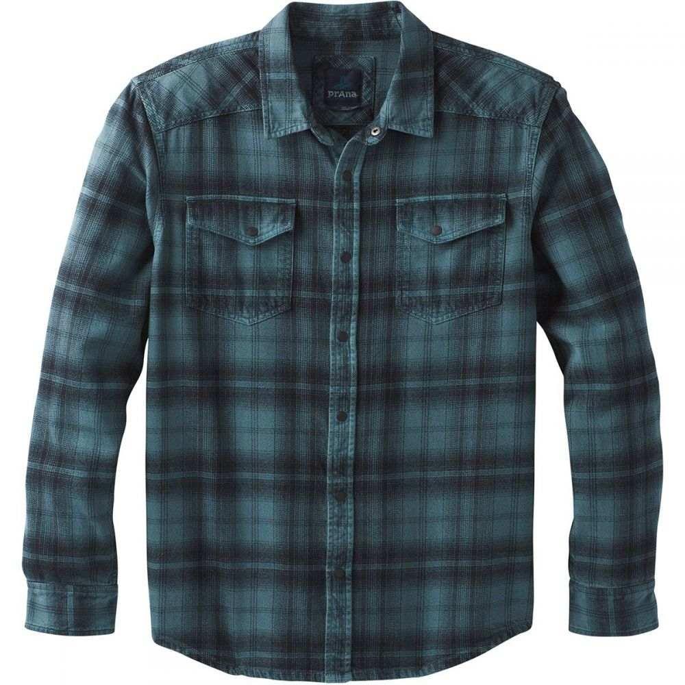 プラーナ Prana メンズ トップス シャツ【Horizon Flannel Shirts】Weathered Blue