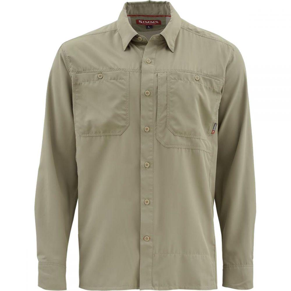 シムズ Simms メンズ 釣り・フィッシング トップス【Ebbtide Long - Sleeve Shirts】Dark Khaki