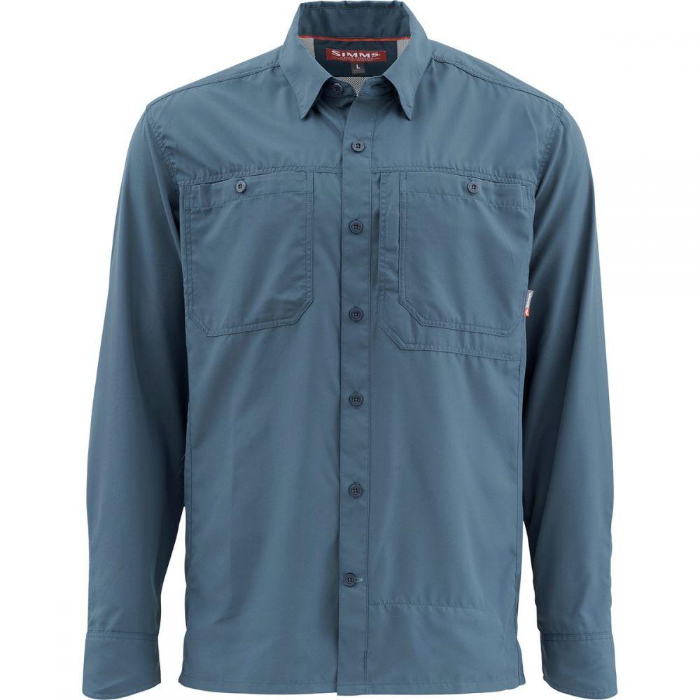最高 シムズ Simms Moon メンズ 釣り・フィッシング Simms トップス【Ebbtide Long トップス【Ebbtide - Sleeve Shirts】Dark Moon, かごや:1e7f81cc --- clftranspo.dominiotemporario.com