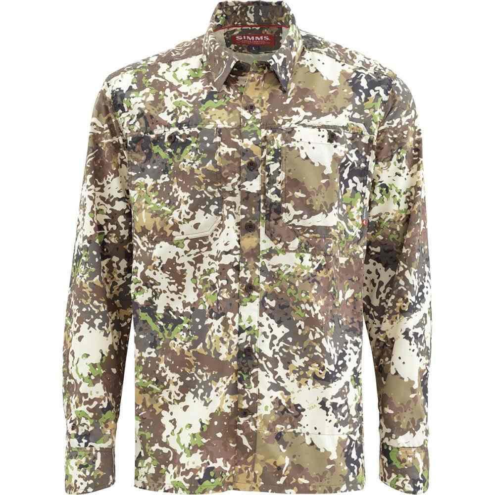 シムズ Simms メンズ 釣り・フィッシング トップス【Ebbtide Long - Sleeve Shirts】River Camo