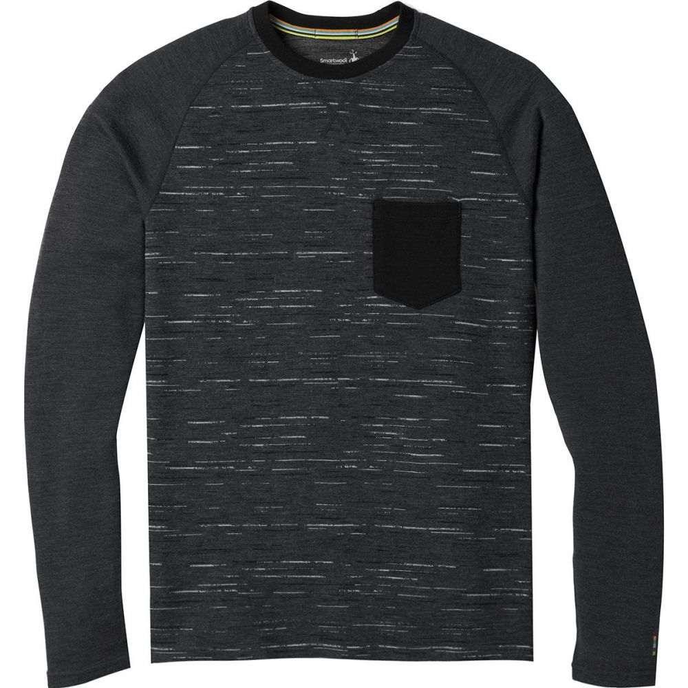 スマートウール Smartwool メンズ トップス【Merino 250 Pocket Crew Tops】Charcoal/Black