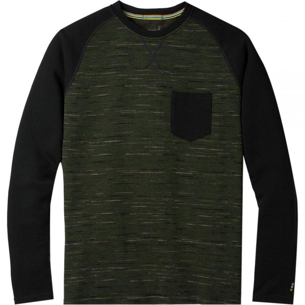 スマートウール Smartwool メンズ トップス【Merino 250 Pocket Crew Tops】Olive/Black