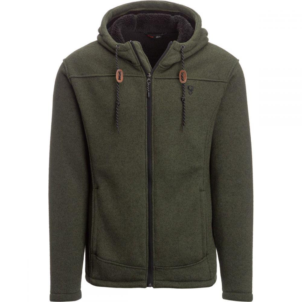 ストイック Stoic メンズ トップス フリース【Sherpa Lined Sweater Fleece Jackets】Dark Leaf