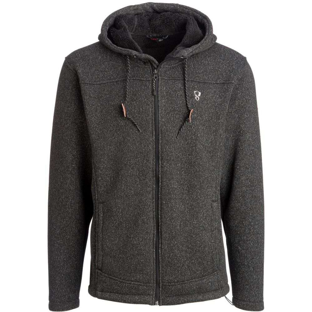 ストイック Stoic メンズ トップス フリース【Sherpa Lined Sweater Fleece Jackets】Jet Black