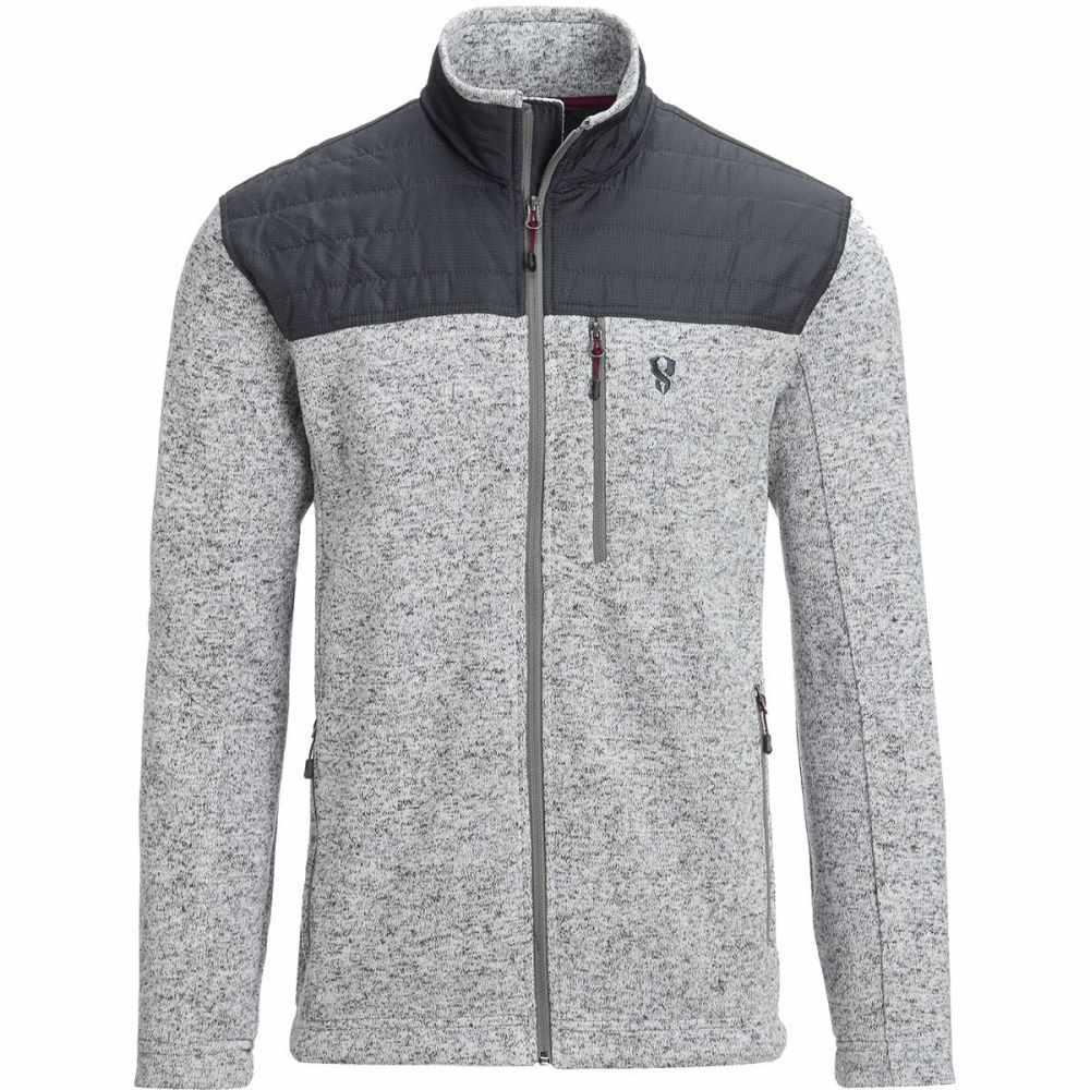 ストイック Stoic メンズ トップス フリース【Nylon Yoke Sweater Fleece Jackets】Pumice Grey