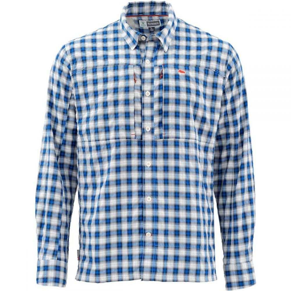 シムズ Simms メンズ 釣り・フィッシング トップス【Bugstopper Long - Sleeve Shirts】Admiral Blue Plaid