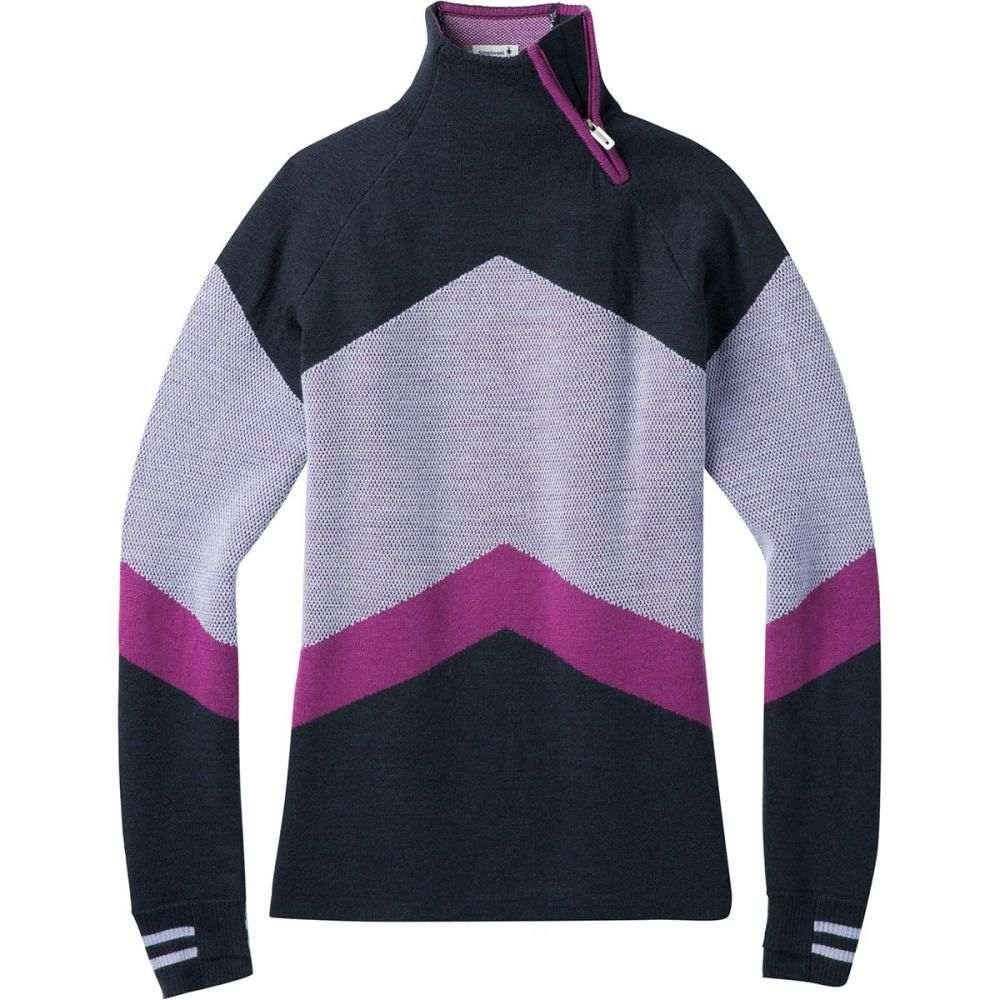 スマートウール Smartwool レディース スキー・スノーボード トップス【Dacono Ski Funnel Neck Sweater】Deep Navy Heather