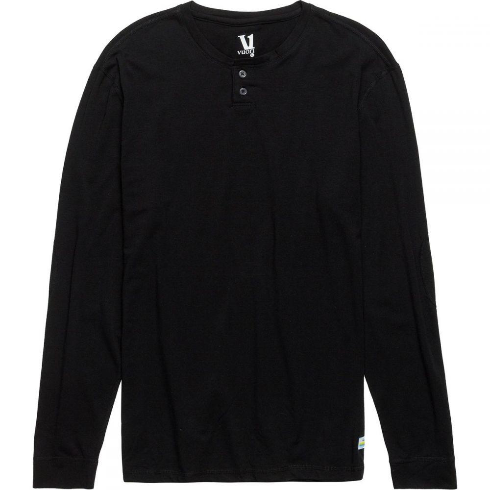 ヴォリ Vuori メンズ トップス 長袖Tシャツ【Ever Long - Sleeve Henley Shirts】Black