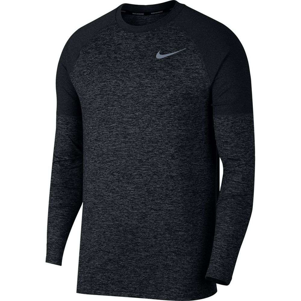 ナイキ Nike メンズ トップス 長袖Tシャツ【Dry Element Crew Shirts】Black/Atmosphere Grey/Heather
