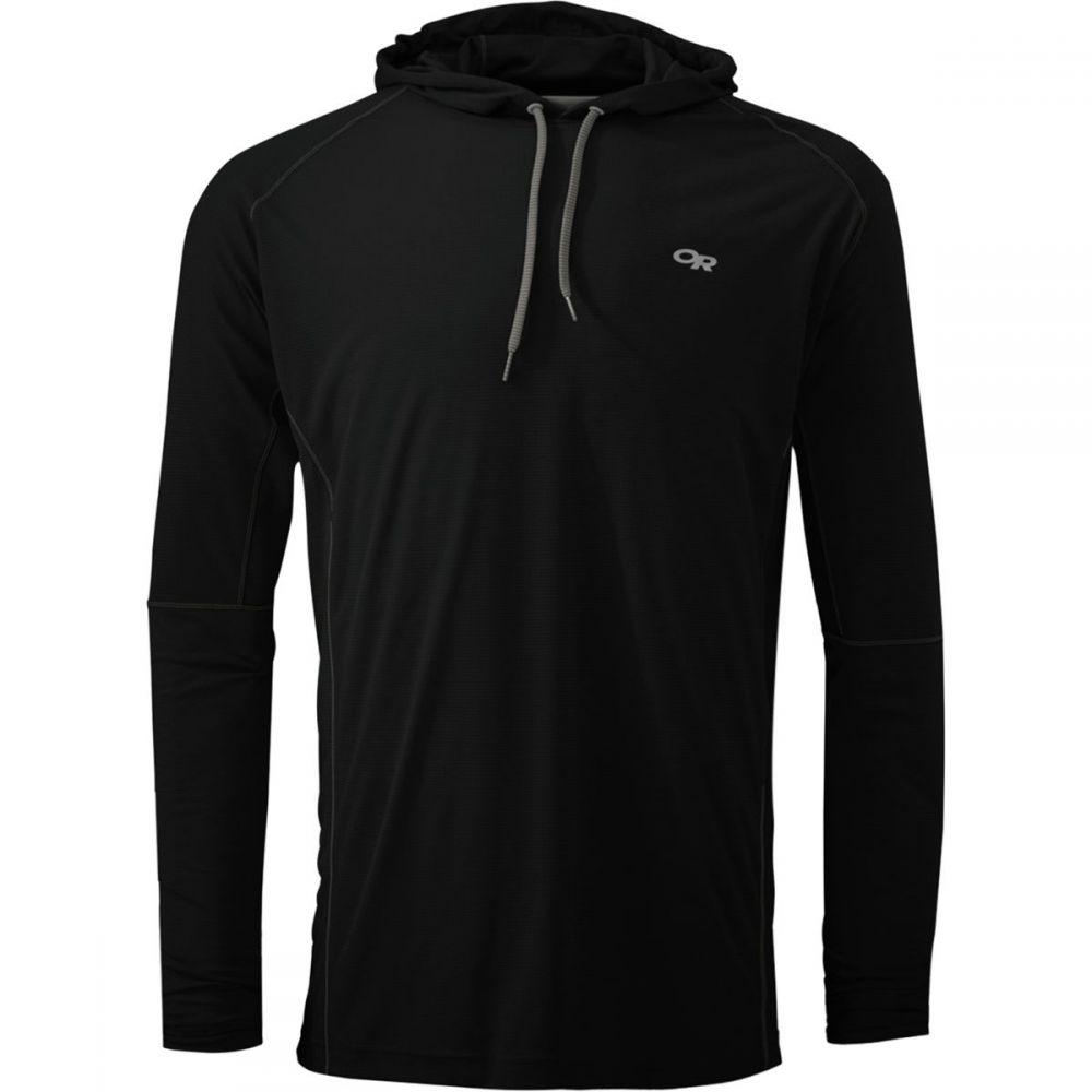 アウトドアリサーチ Outdoor Research メンズ トップス パーカー【Echo Hooded Long - Sleeve Shirts】Black/Pewter