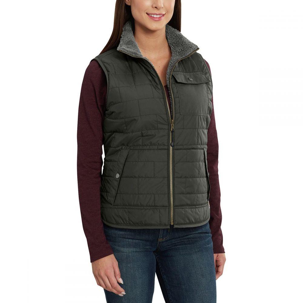 カーハート Carhartt レディース トップス ベスト・ジレ【Amoret Sherpa Lined Vest】Peat
