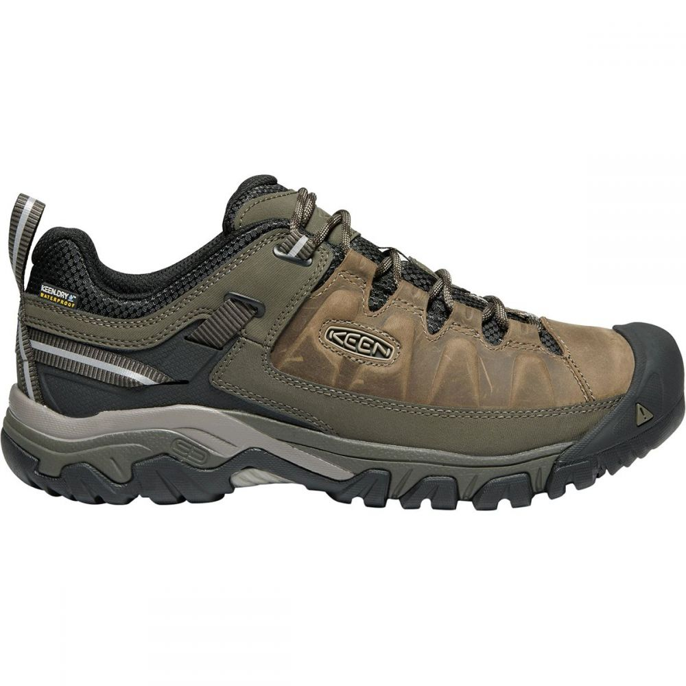キーン KEEN メンズ ハイキング・登山 シューズ・靴【Targhee III Waterproof Leather Hiking Shoe - Wides】Bungee Cord/Black