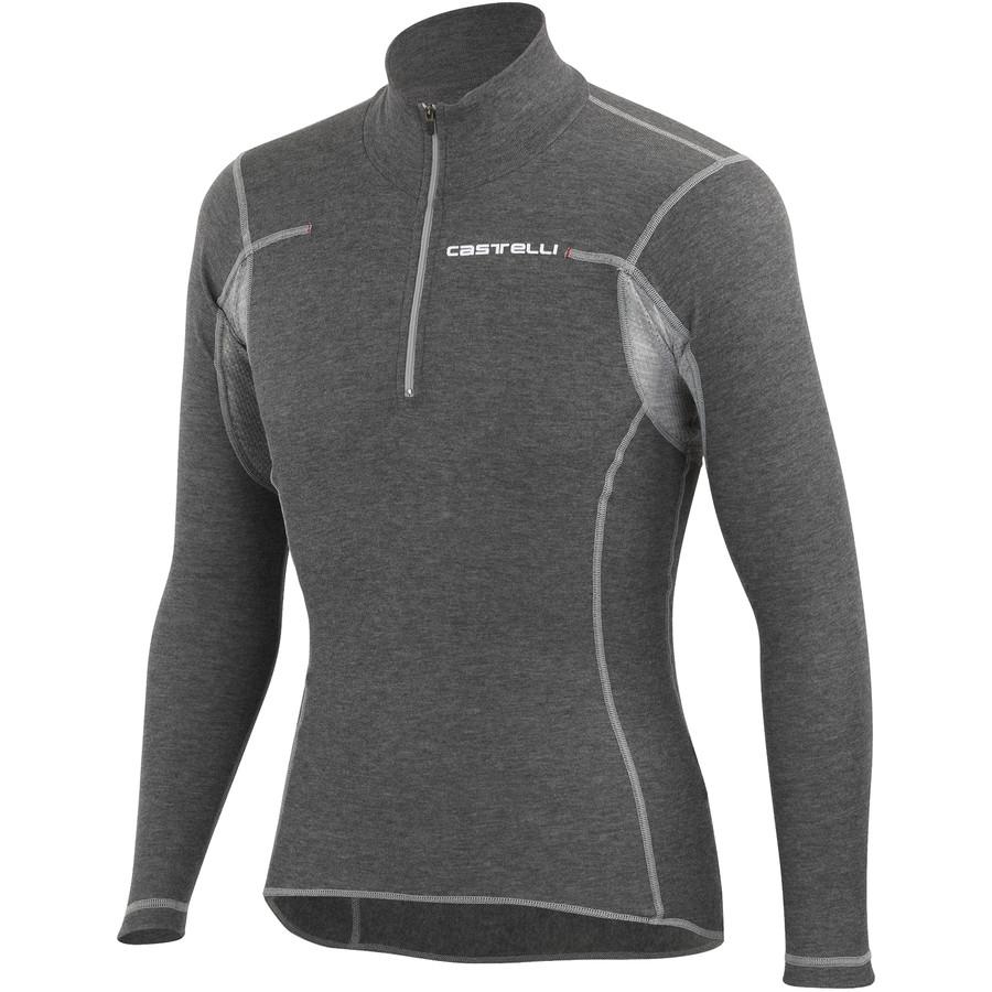 カステリ Castelli メンズ サイクリング ウェア【Flanders Warm Half-Zip Base Layer】Grey