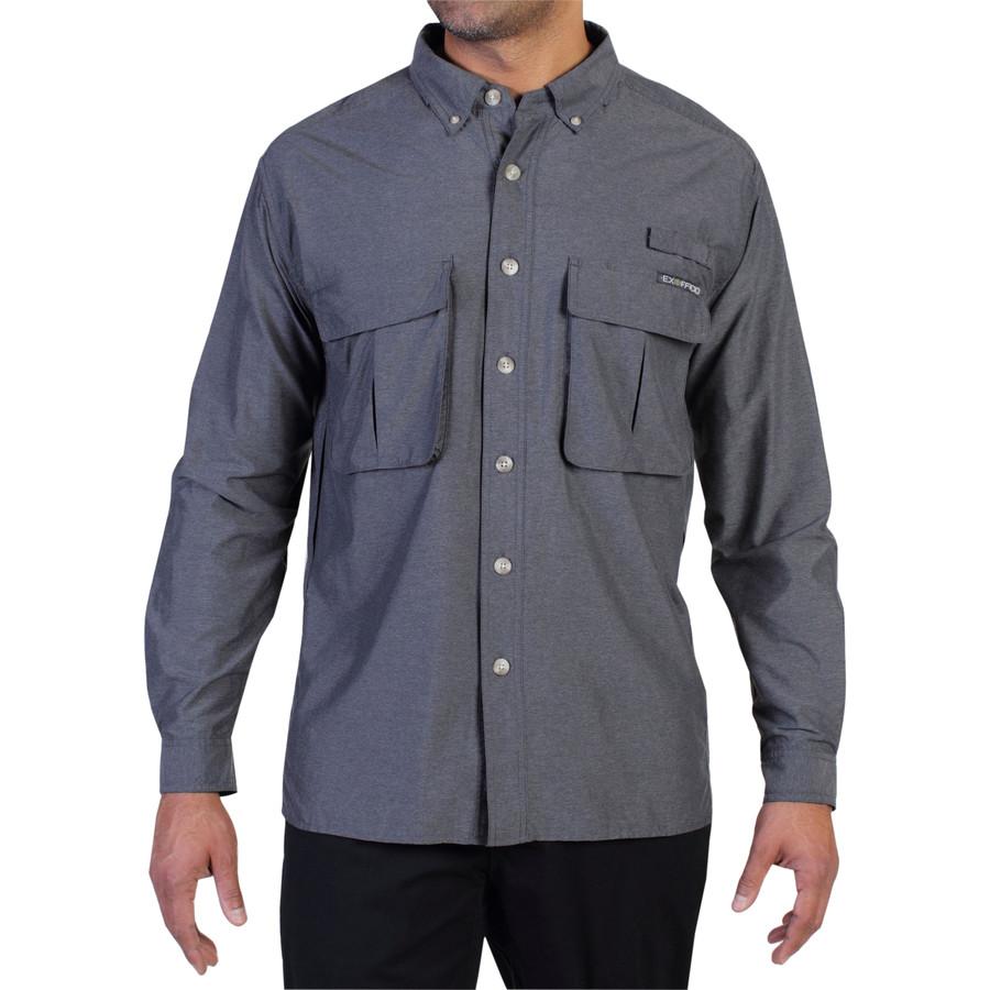 エクスオフィシオ ExOfficio メンズ トップス 長袖シャツ【Air Strip Lite Shirt】Dark Pebble