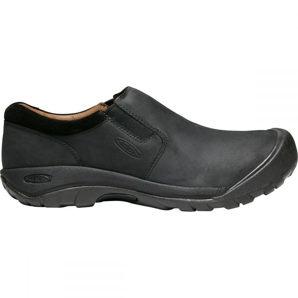 キーン KEEN メンズ シューズ・靴 スリッポン・フラット【Austin Slip - On Shoes】Black/Raven