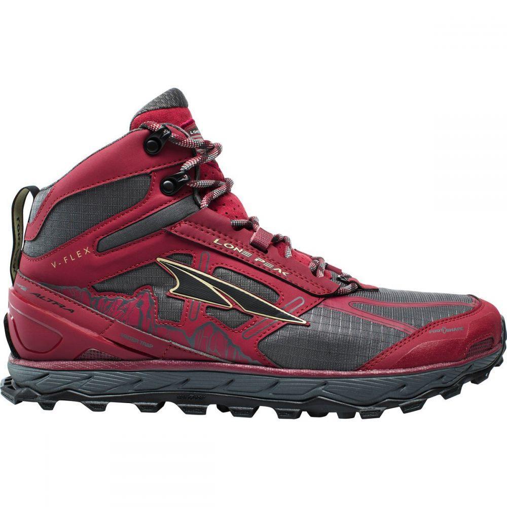 アルトラ Altra メンズ ランニング・ウォーキング シューズ・靴【Lone Peak 4.0 Mid Mesh Trail Running Shoes】Red