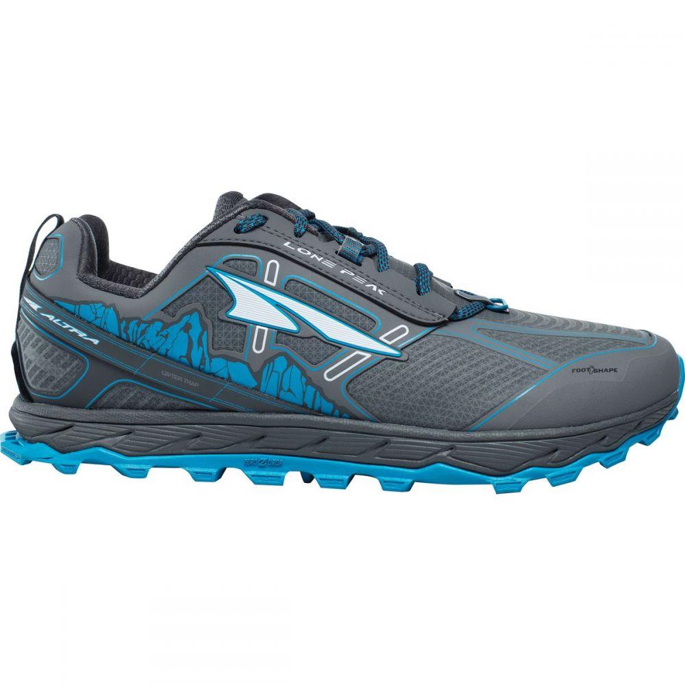 アルトラ Altra メンズ ランニング・ウォーキング シューズ・靴【Lone Peak 4.0 Low Rain Snow Mud Trail Running Shoes】Gray/Blue