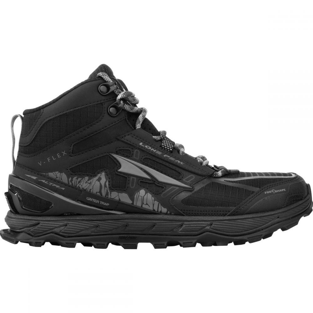 アルトラ Altra メンズ ランニング・ウォーキング シューズ・靴【Lone Peak 4.0 Mid Rain Snow Mud Trail Running Shoes】Black