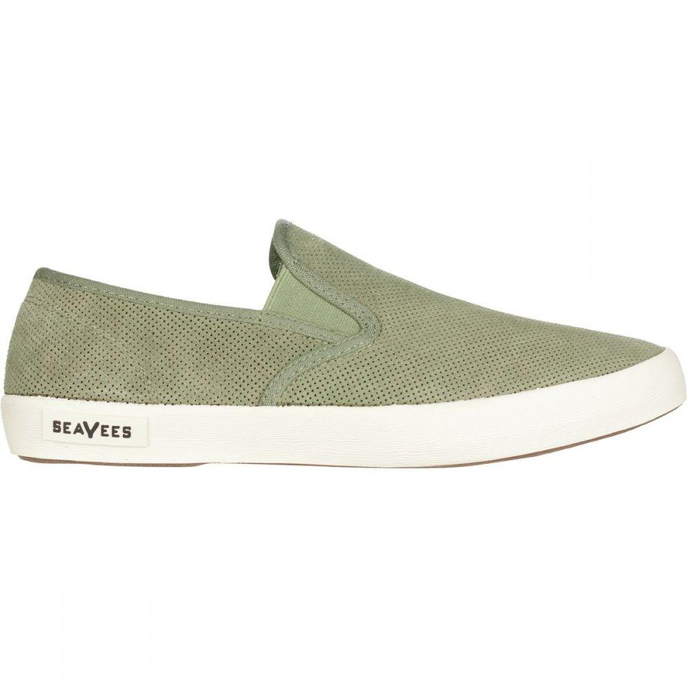 シービーズ SeaVees メンズ シューズ・靴 スリッポン・フラット【Baja Varsity Slip - On Shoes】Burnt Olive Suede