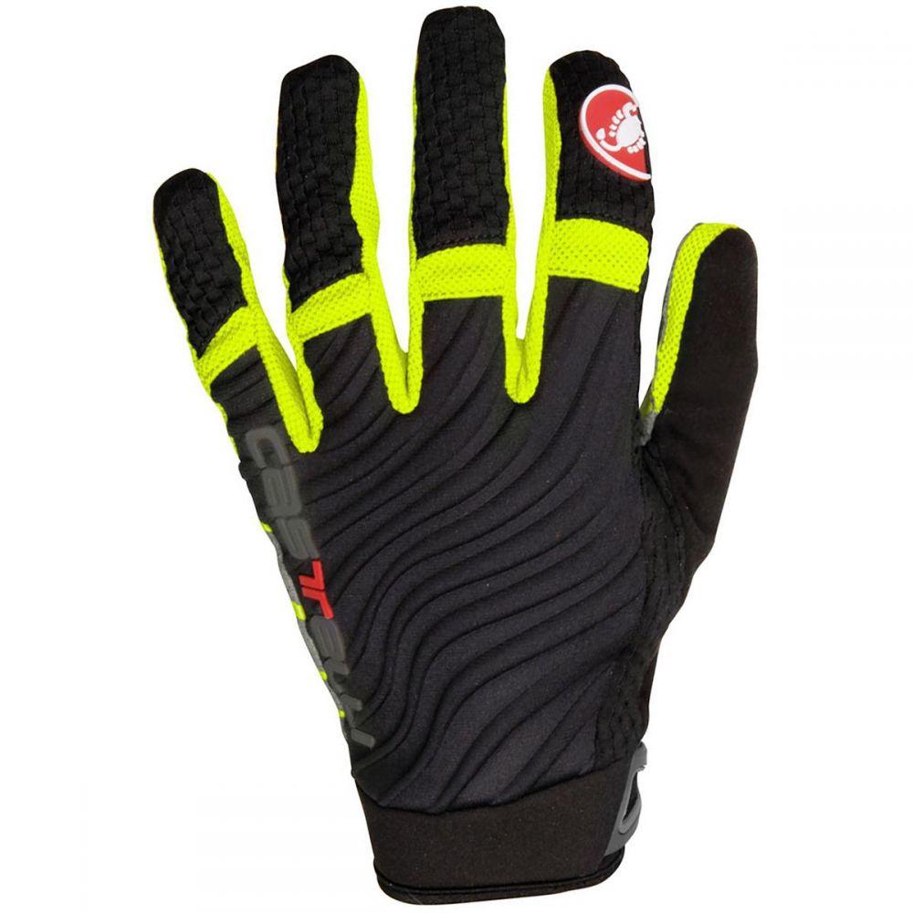 カステリ Castelli メンズ 自転車 グローブ【CW 6.0 Cross Gloves】Black/Yellow Fluo