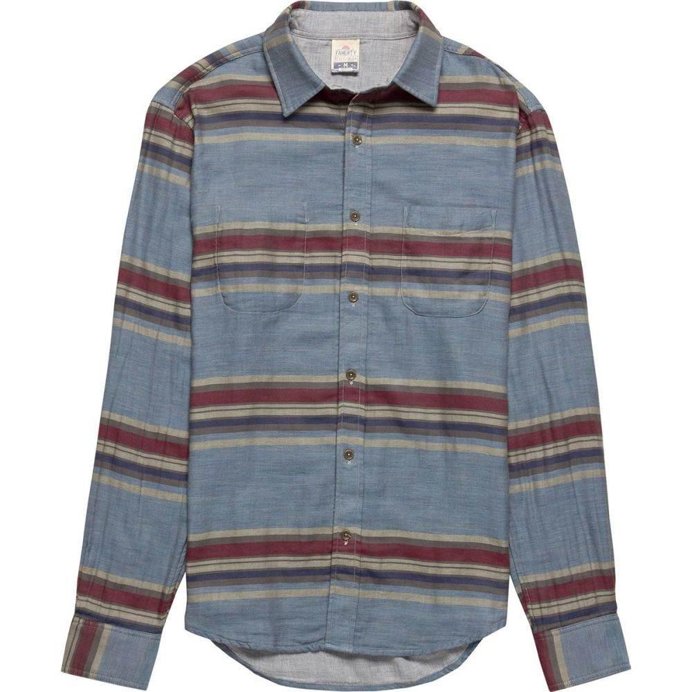 ファレティ Faherty メンズ トップス シャツ【Reversible Vintage Woven Belmar Shirts】Light Grey/Serape