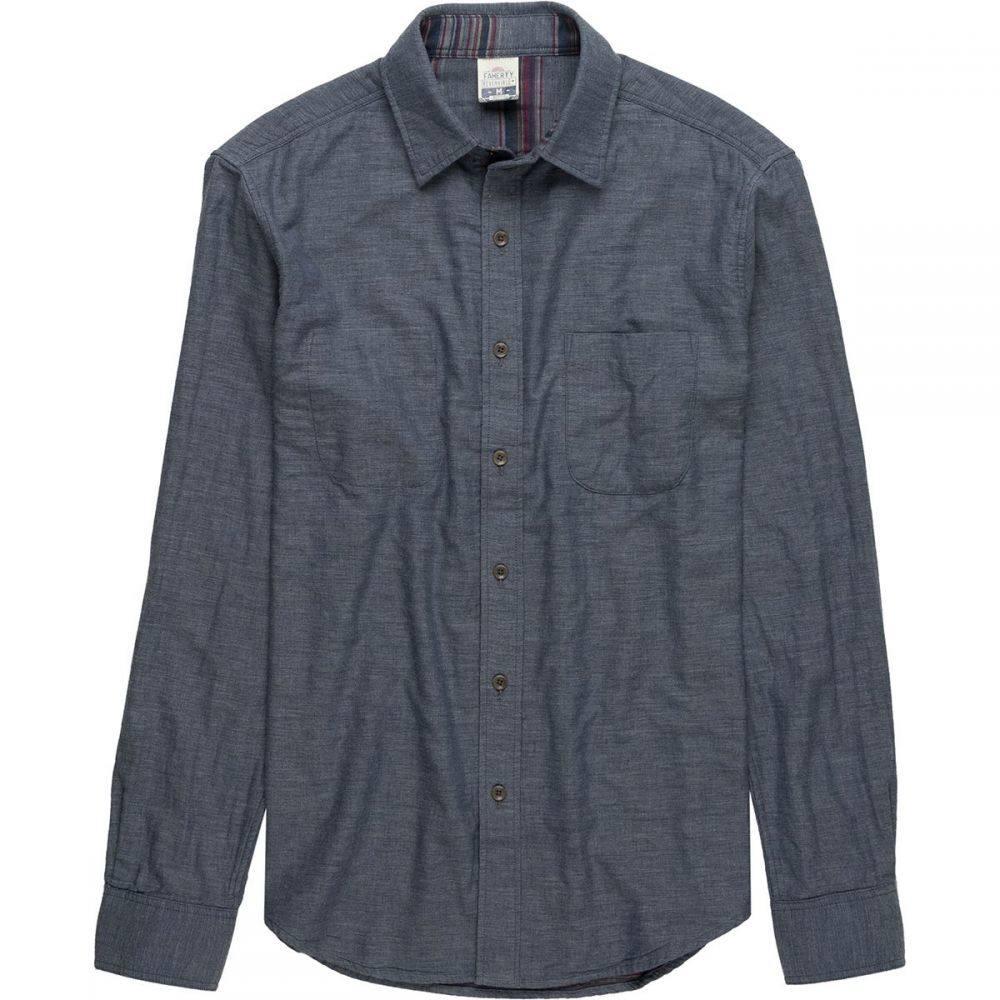 ファレティ Faherty メンズ トップス シャツ【Reversible Belmar Shirts】Slate Heather/Serape