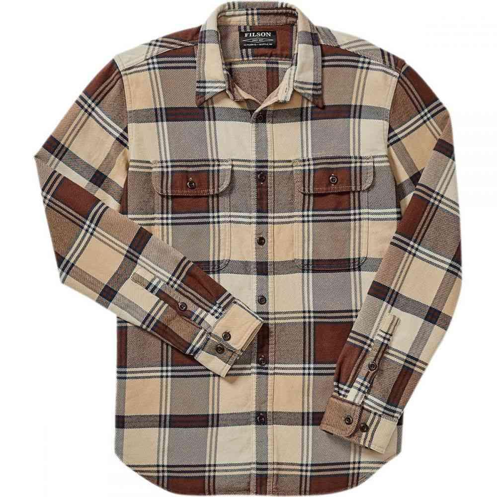 フィルソン Filson メンズ トップス シャツ【Vintage Flannel Work Shirts】Beige/Navy/Brown Plaid
