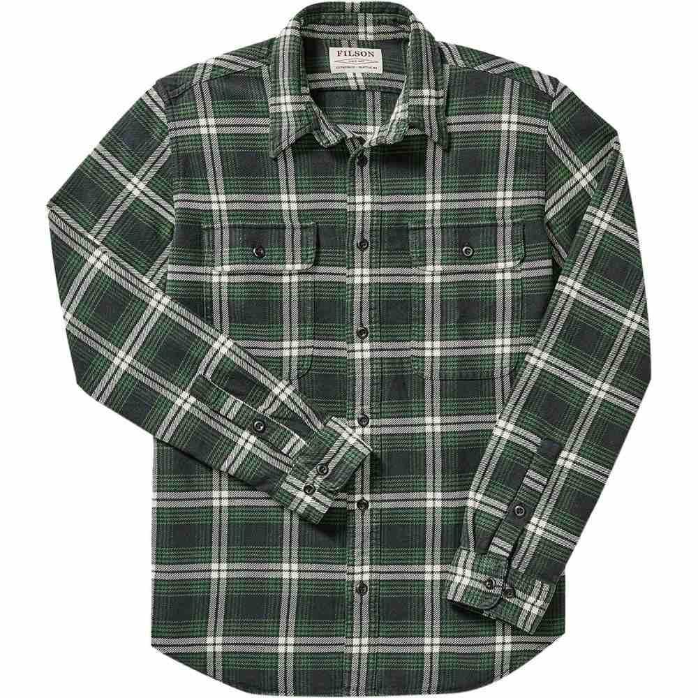 フィルソン Filson メンズ トップス シャツ【Vintage Flannel Work Shirts】Black/Green/White Plaid