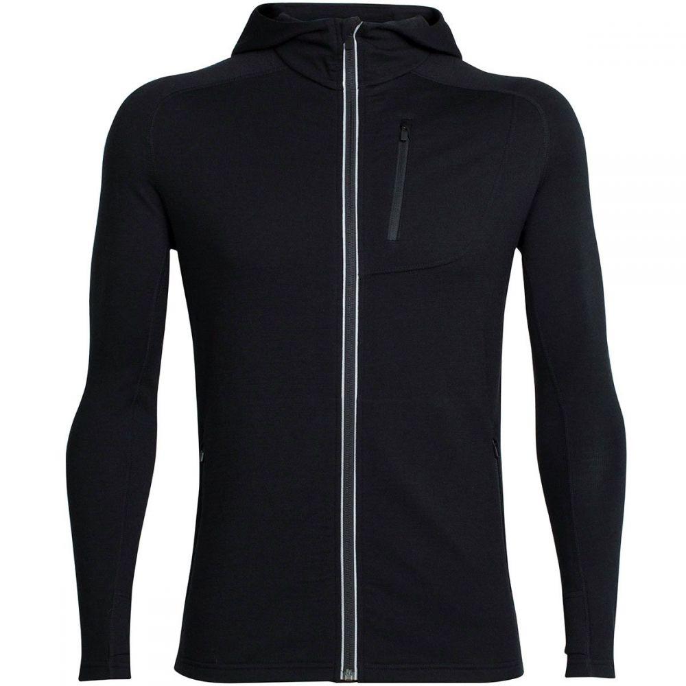 アイスブレーカー Icebreaker メンズ トップス パーカー【Quantum Hooded Full - Zip Shirts】Black