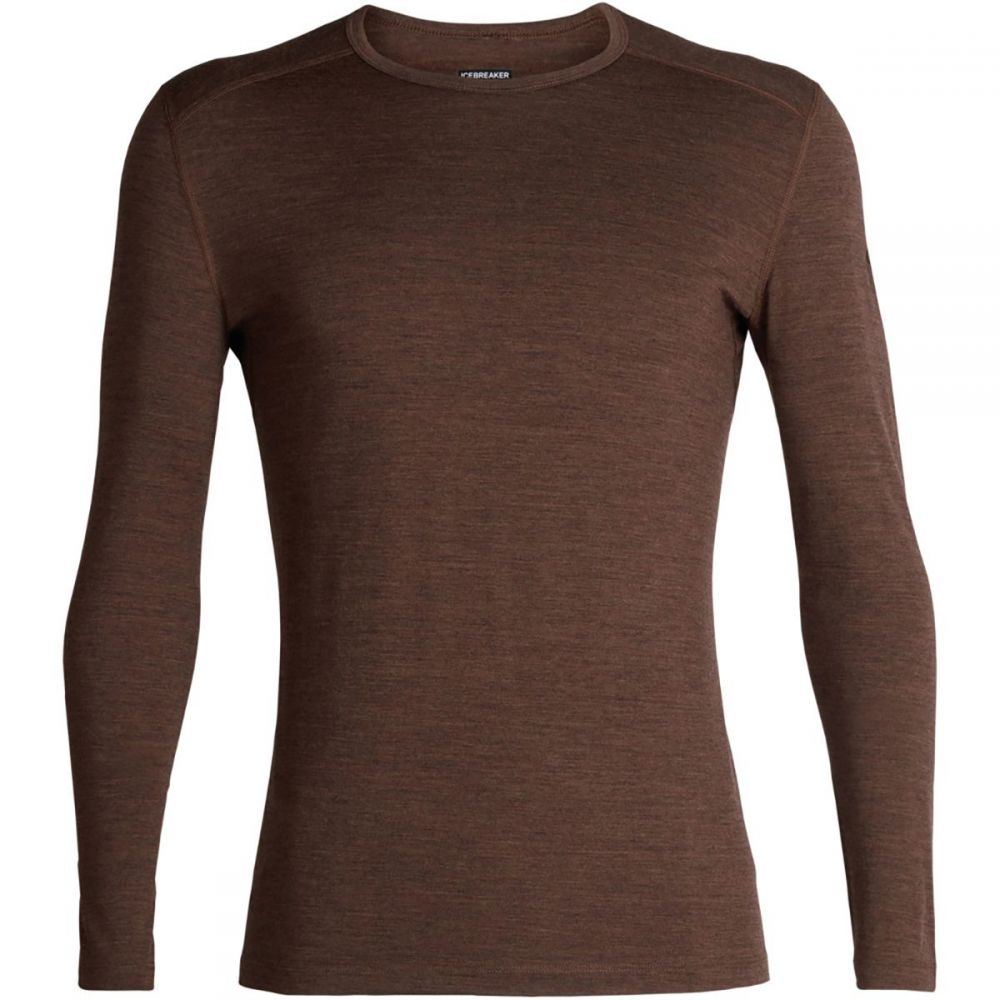 アイスブレーカー Icebreaker メンズ トップス【200 Oasis Long - Sleeve Crew Tops】Bronze Heather