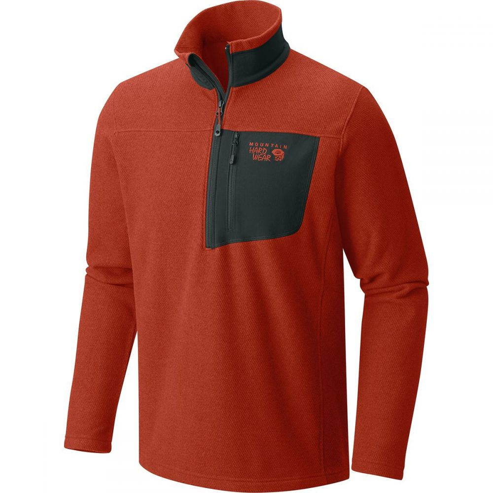 マウンテンハードウェア Mountain Hardwear メンズ トップス フリース【Toasty Twill 1/2 - Zip Pullover Jackets】Dark Copper