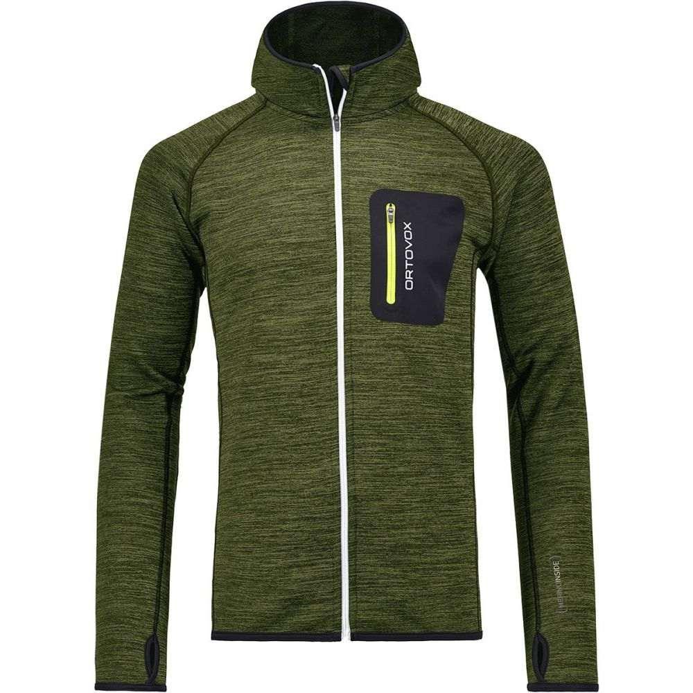 オルトボックス Ortovox メンズ トップス フリース【Melange Hooded Fleece Jackets】Matcha Green Blend