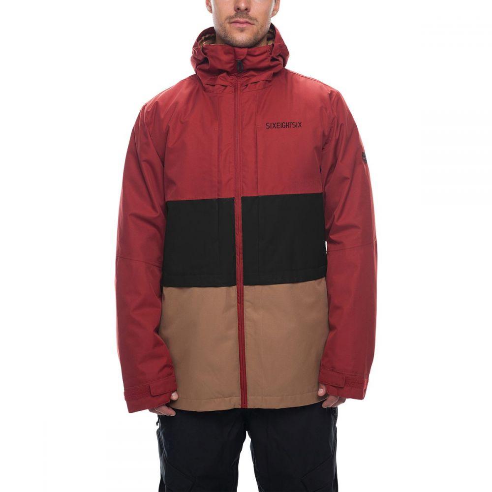 シックス エイト シックス 686 メンズ スキー・スノーボード アウター【Smarty 3 - in - 1 Form Jackets】Rusty Red Colorblock