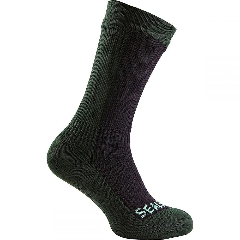 シールスキンズ SealSkinz メンズ ハイキング・登山【Hiking Mid Socks】Black/Racing Green