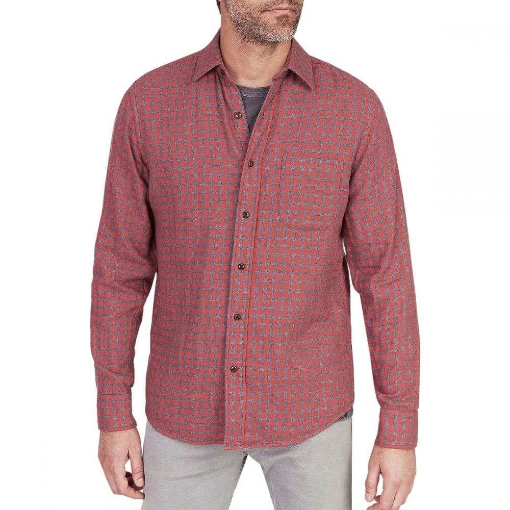 ファレティ Faherty メンズ トップス シャツ【Doublecloth Belmar Shirts】Red Charcoal Buffalo