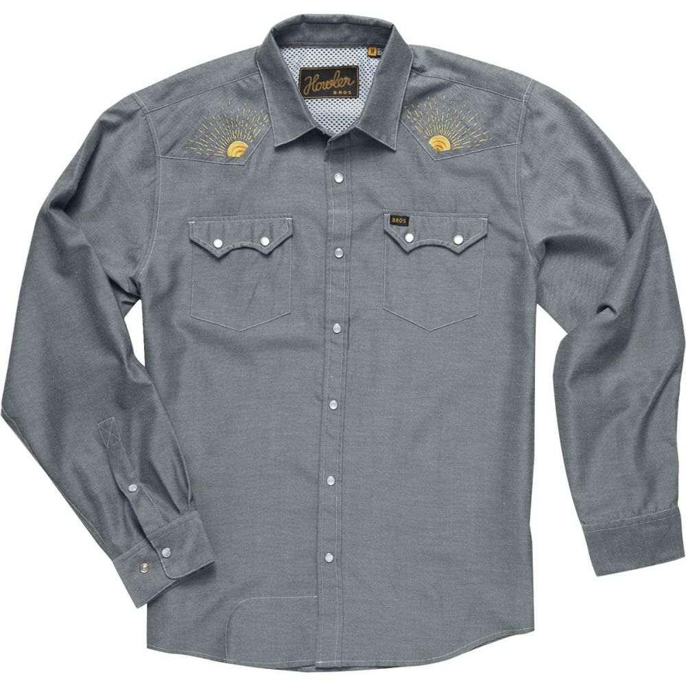 ホウラーブラザーズ Howler Brothers メンズ トップス シャツ【Crosscut Deluxe Snap Shirts】Charcoal Oxford/Rising Sun