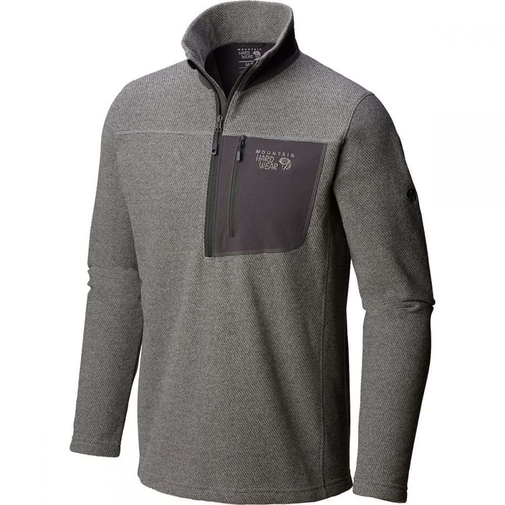 マウンテンハードウェア Mountain Hardwear メンズ トップス フリース【Toasty Twill 1/2 - Zip Pullover Jackets】Manta Grey