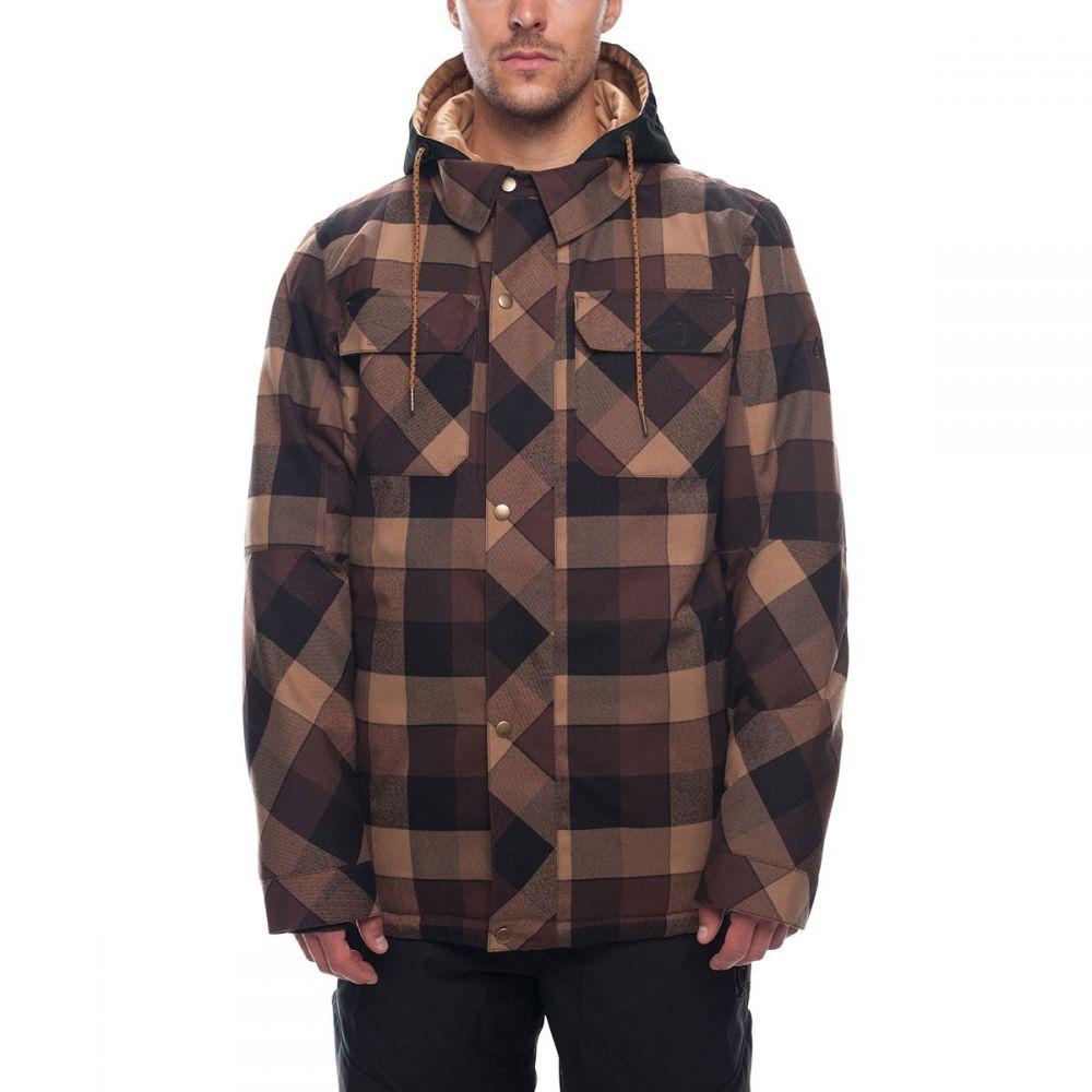 シックス エイト シックス 686 メンズ スキー・スノーボード アウター【Woodland Insulated Jackets】Brown Yarn Dye Plaid