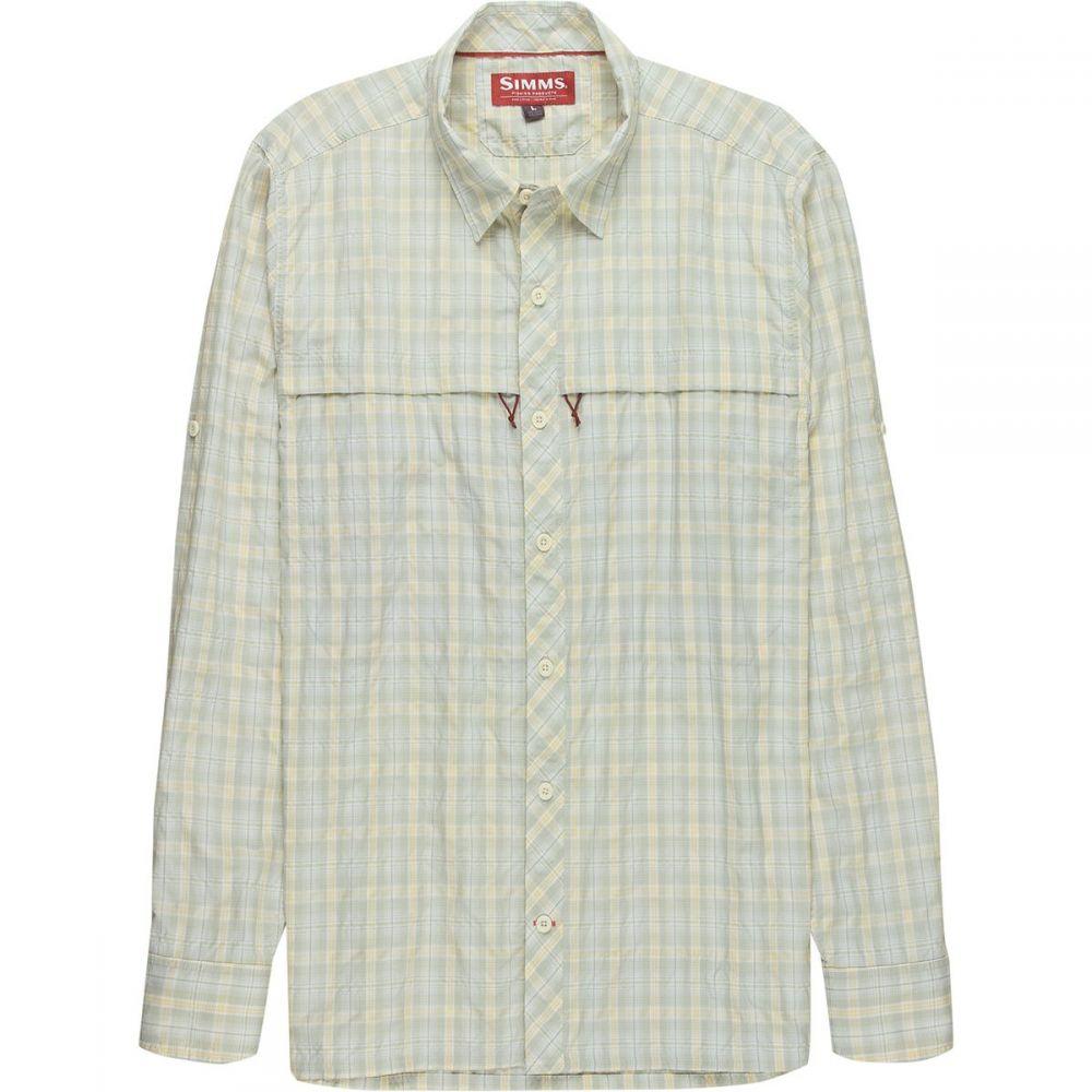 シムズ Simms メンズ 釣り・フィッシング トップス【Stone Cold Long - Sleeve Shirts】Birch Plaid