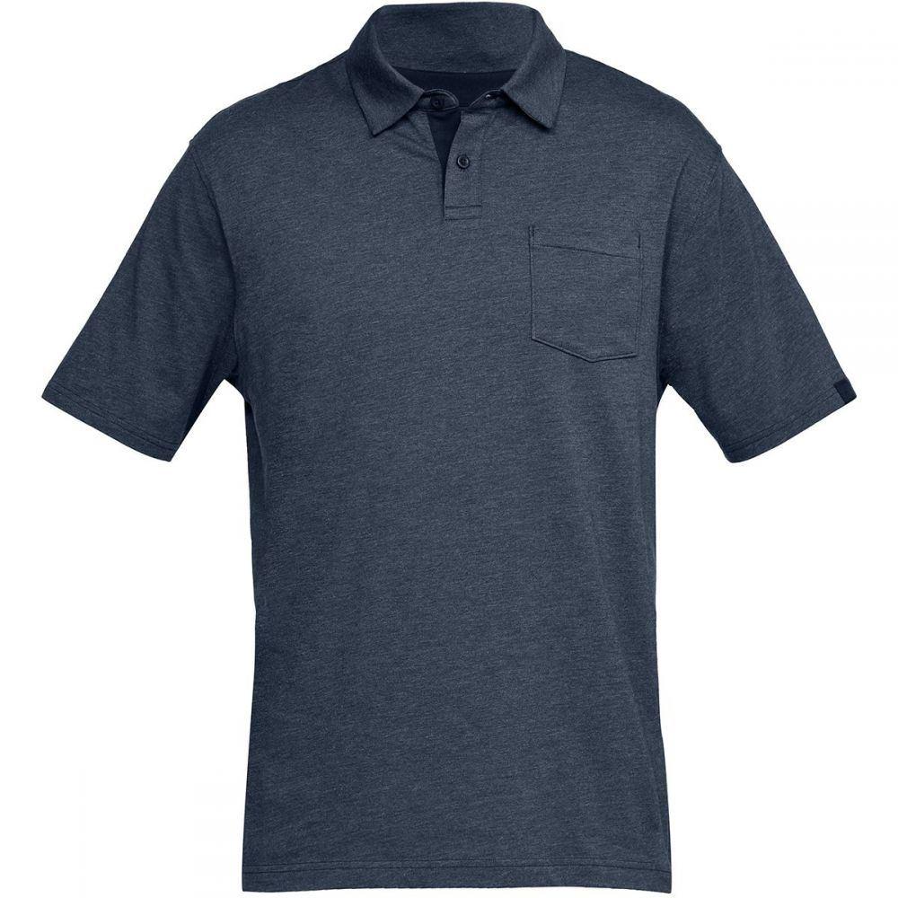 アンダーアーマー Under Armour メンズ トップス ポロシャツ【Charged Cotton Scramble Polo Shirts】Academy/Academy Medium Heather/Academy